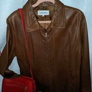 Calvin Klein Vintage Leather Jacket